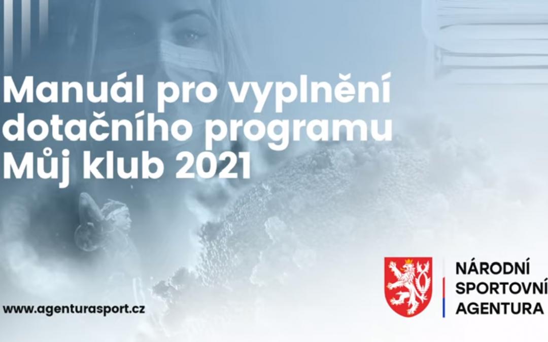 MŮJ KLUB 2021 – VIDEOMANUÁL PRO ŽADATELE